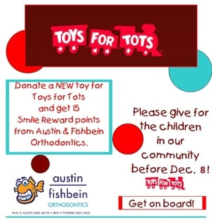 Help Your Pensacola Orthodontist Donate Toys For Tots!