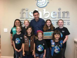 Fishbein Orthodontics donates over 250 boxes of Girl Scout Cookies to Operation Gratitude!